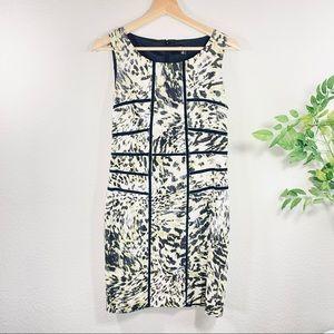 Ann Taylor Petite Form Fit Animal Print Dress
